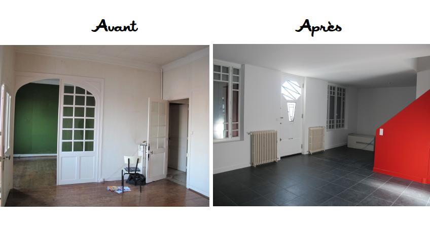 R novation maison rochefort aliz chauvet architecte 17 - Photo de renovation de maison ...