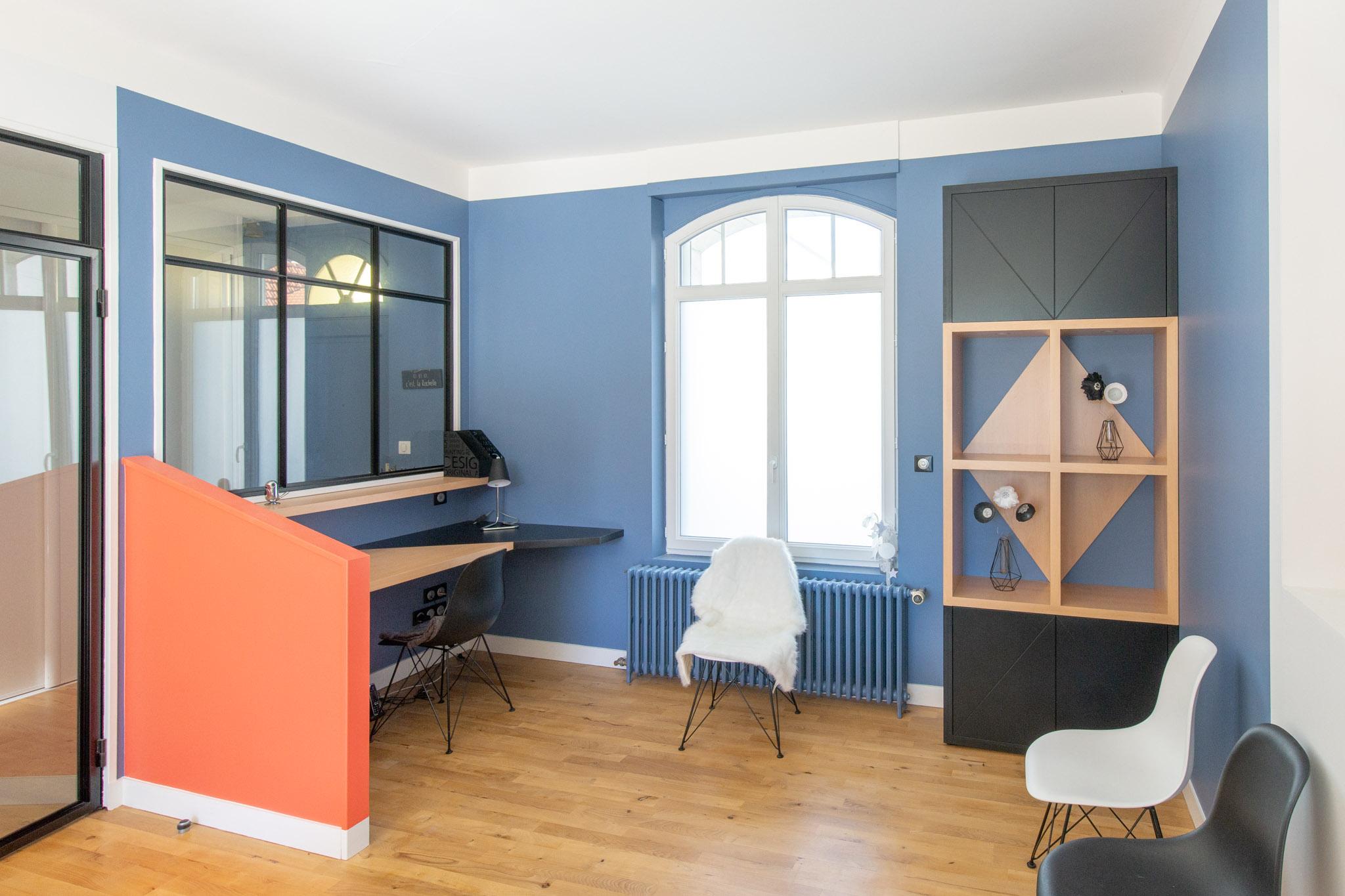 Renovation maison la rochelle bureau baie atelier alize chauvet architecte aliz chauvet - Cabinet medical la rochelle ...